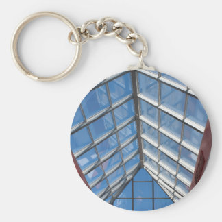 View from below the transparent roof of the glass key ring