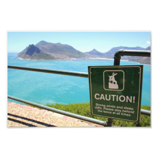 View from Chapman's Peak Drive outside Cape Town Photograph
