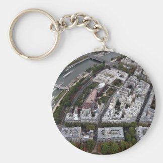View from Eiffel Tower Basic Round Button Key Ring