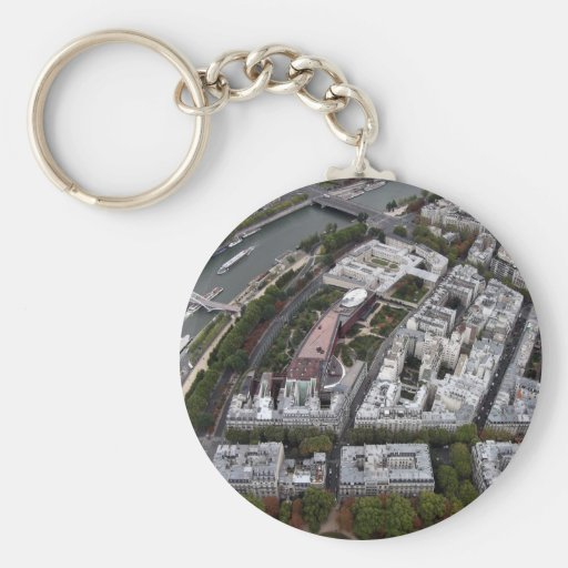 View from Eiffel Tower Keychain