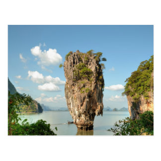 View from hill of Ko Tapu Island in Thailand near Postcard