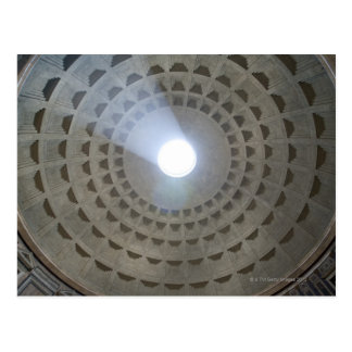View from inside the Pantheon up to the cupola Postcard
