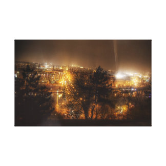 View from Letna Park in Prague Canvas Print
