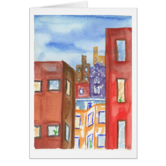 View from My Apartment II Greeting Card