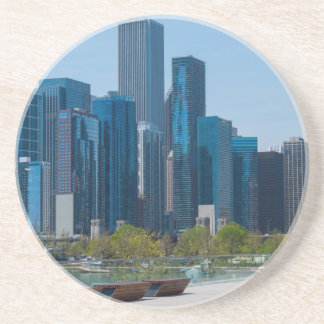 View From Navy Pier Beverage Coaster