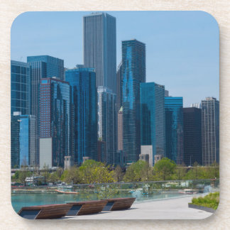View From Navy Pier Drink Coaster