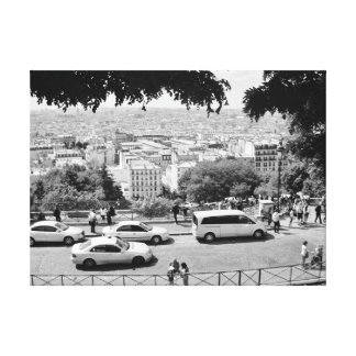 view from sacre coeur canvas print