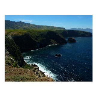 View from Santa Cruz Island in Channel Islands Postcard