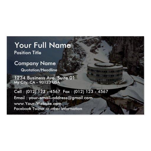 View from summit, Mt. Pilatus, Switzerland Europe Business Card