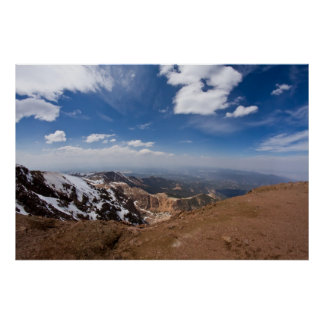View From Summit of Pikes Peak Poster