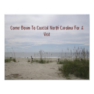 """View From The Beachhouse 4.25"""" X 5.5"""" Invitation Card"""