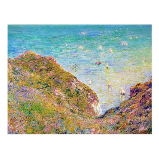 View from the Cliff at Pourville, Bright Weather Postcard