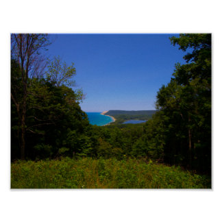 View from the Empire Bluffs Trail, Michigan Poster