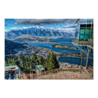 View from the Skyline Gondola, Queenstown, NZ Poster