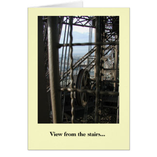 View From the Stairs Greeting Card