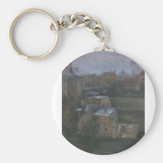 View from the studio in Munich by Lovis Corinth Keychains