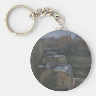 View from the studio in Munich by Lovis Corinth Keychain