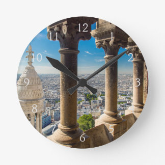 View from the top of Basilique du Sacre Coeur Clocks