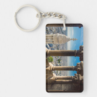 View from the top of Basilique du Sacre Coeur Double-Sided Rectangular Acrylic Key Ring