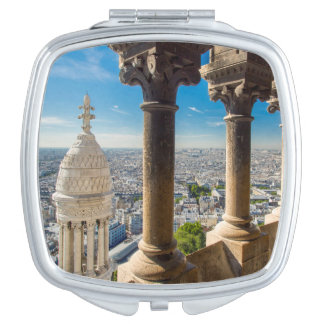 View from the top of Basilique du Sacre Coeur Vanity Mirror