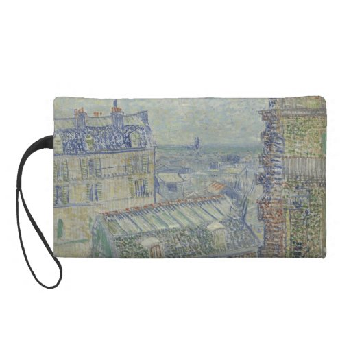 View from Theo's Apartment by Vincent Van Gogh Wristlet Purses
