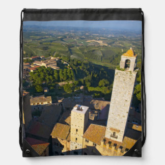 View From Tower, San Gimignano, Siena, Tuscany Drawstring Backpack