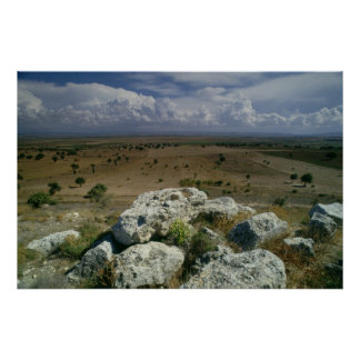 View from Troy of the surrounding landscape Poster