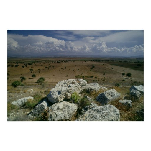 View from Troy of the surrounding landscape Print