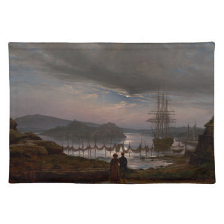 View from Vaekero near Christiania by J.C Dahl Placemat