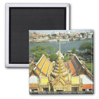 View from Wat Arun over Chao Phraya river, Bangkok Magnet