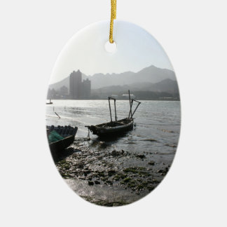 View from Zhuwei towards Luzhou, Taiwan Ceramic Ornament
