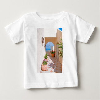 View in Santorini island Baby T-Shirt