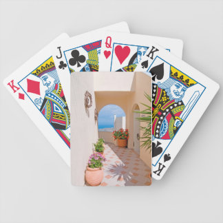 View in Santorini island Bicycle Playing Cards
