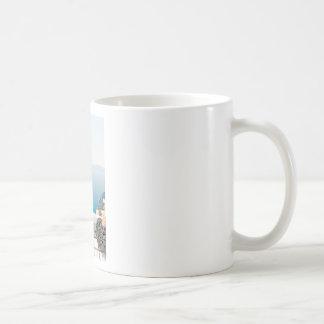 View in Santorini island Coffee Mug