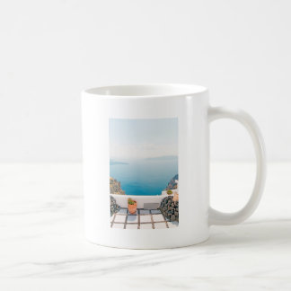 View in Santorini island Coffee Mug