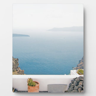 View in Santorini island Plaque