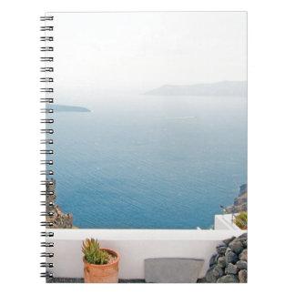 View in Santorini island Spiral Notebook