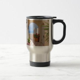 View in Santorini island Travel Mug