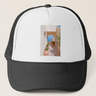 View in Santorini island Trucker Hat