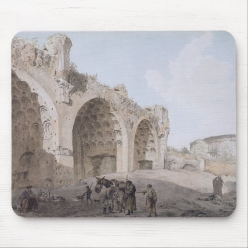 View in the Roman Forum (The Temple of Peace) 1779 Mouse Pads