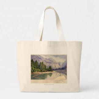 View in Yo-Semite Valley California Large Tote Bag