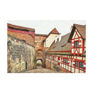 View inside the Nuremberg Castle. Canvas Print