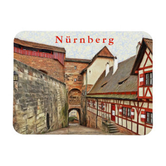 View inside the Nuremberg Castle. Magnet