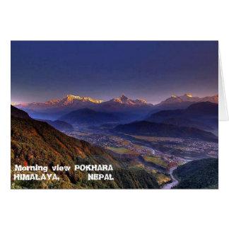 View Landscape  : HIMALAYA POKHARA NEPAL Greeting Card