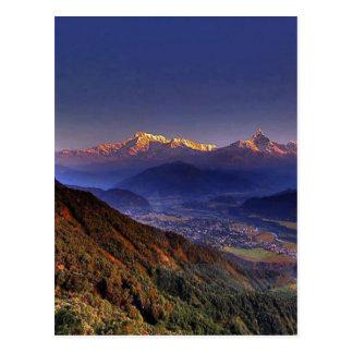View Landscape  : HIMALAYA POKHARA NEPAL Postcard