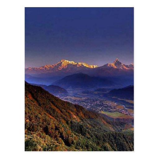 View Landscape  : HIMALAYA POKHARA NEPAL Postcards