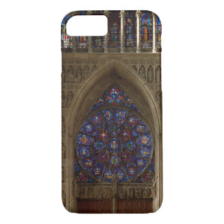 View looking west from the nave, rose window desig iPhone 7 case
