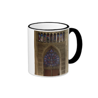 View looking west from the nave, rose window desig coffee mugs