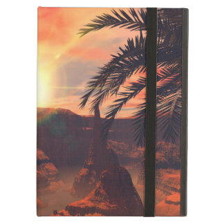 View of a canyon with red sandstone in the sunset iPad air cover