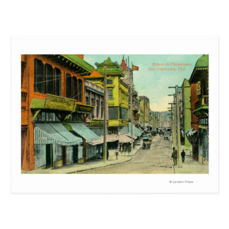 View of a Chinatown Street Postcard